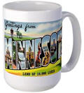 Greetings from Minnesota Large Mug